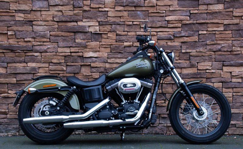 2017 Harley Davidson FXDB Dyna Street Bob 103 ABS olive green S&S stage one btw